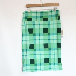 LuLaRoe St Patricks Day Skirt Large New Green